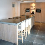 keuken kookeiland + inbouwkast landelijke stijl